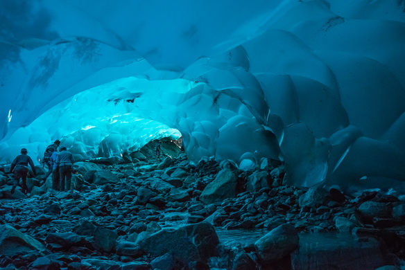 Cavernas del glaciar Mendenhall - Estados Unidos